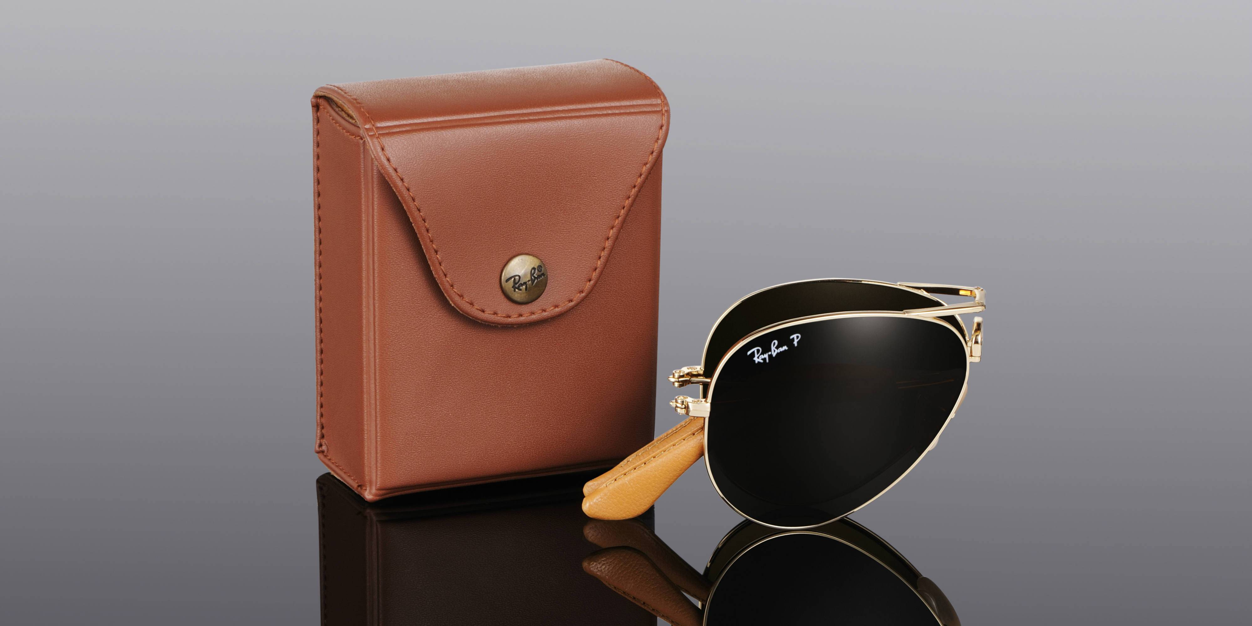 ray ban folding sunglasses case  there were 1200 units of the last one, and each came in brown leather case, resembling a jewel. ray ban aviator folding