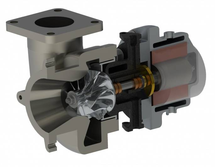 Electric Turbo Compounding Unit Recovers Energy From Exhaust Gas Of An Internal Combustion Engine And Converts It Into Useful Electrical By Coupling A